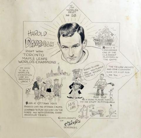 Original art for the Harold Darragh coaster