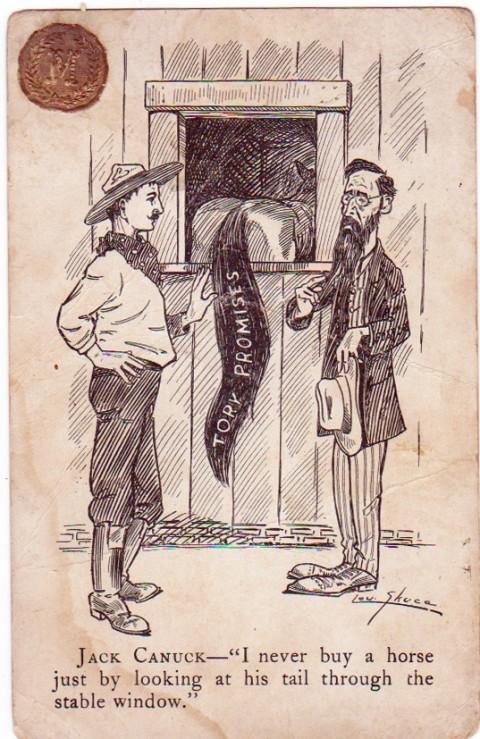 Jack Canuck postcard c. 1911.