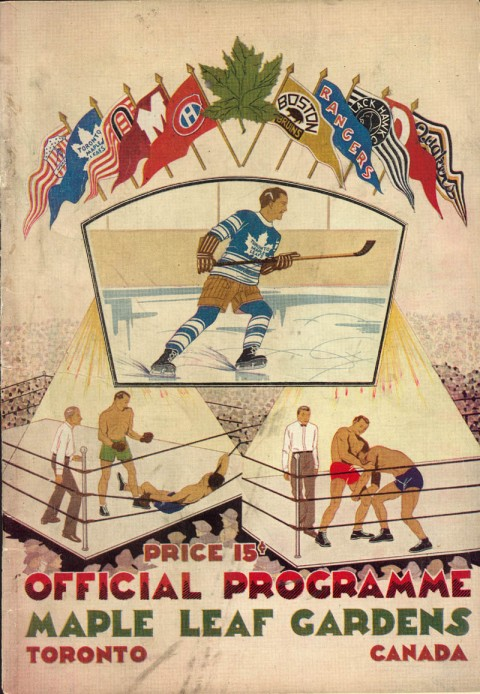 First Maple Leaf Gardens prgram 1931.