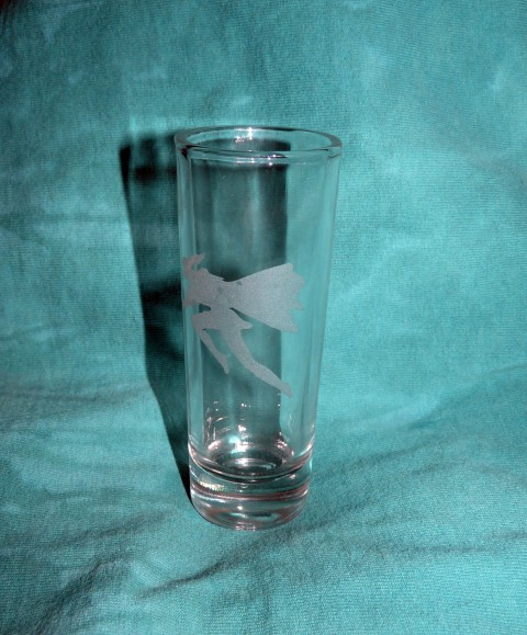 The Nelvana shot glass.