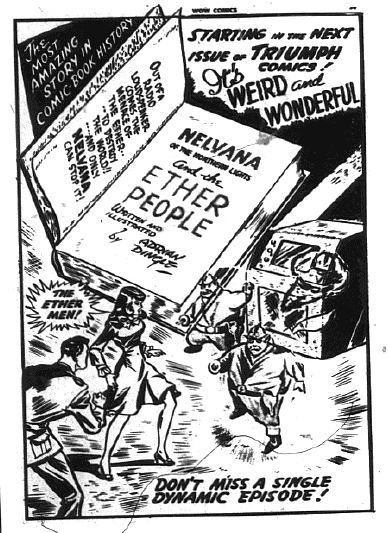 Nelvana ad from Wow Comics No. 24