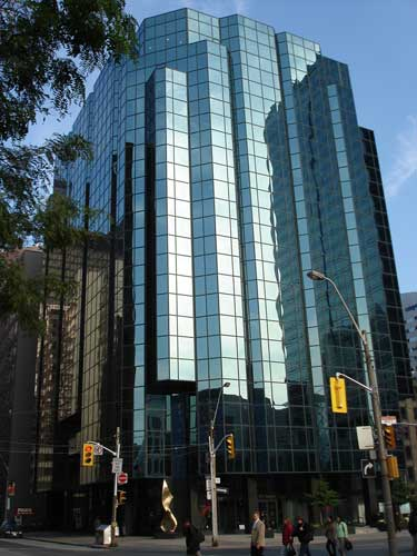 145 Wellington St., Toronto where Rucker Publications was originally located.