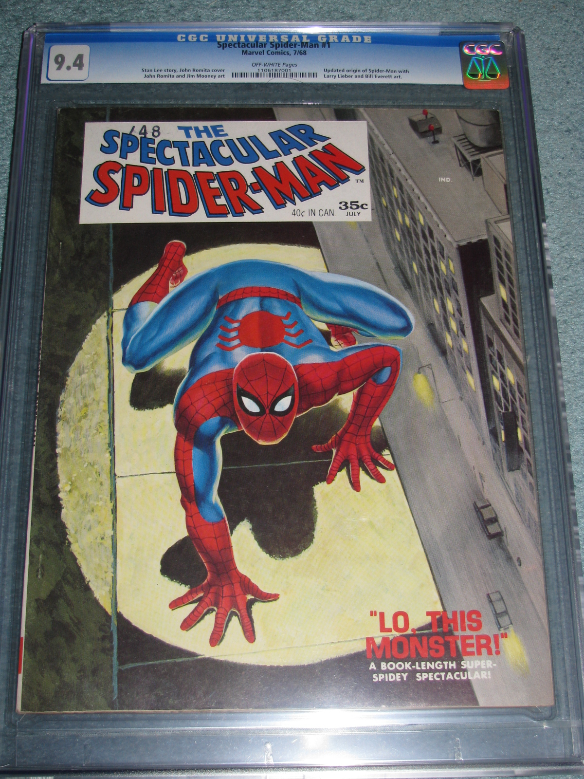Spectacular Spider-Man #1 Magazine 1968