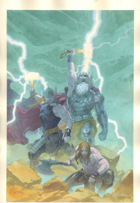 Thor God Of Thunder issue 9 cover by Esad Ribic