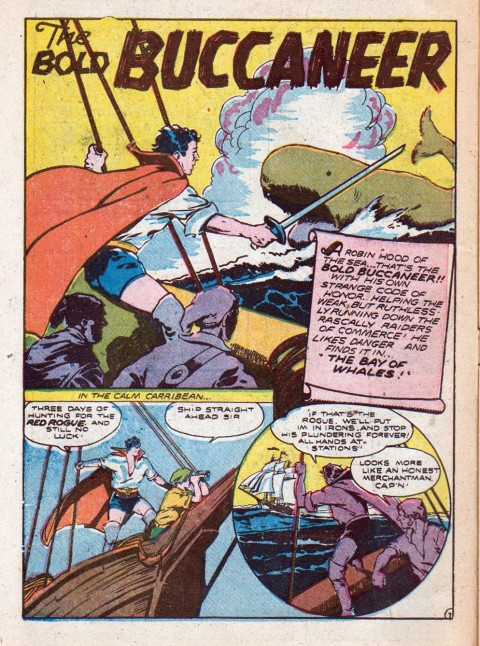 The Bold C=Buccaneer splash from Bombadier Comics