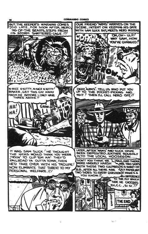 Last page of the Circus Cyclone story