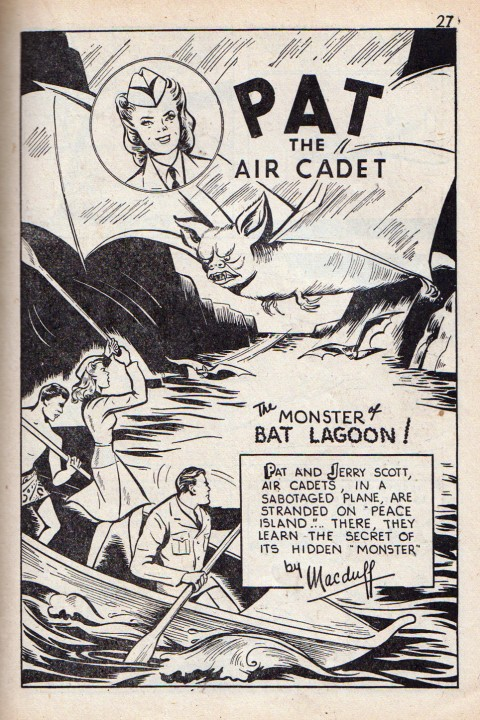 Pat the Air Cadet splash from Grand Slam Vol. 1 No. 11