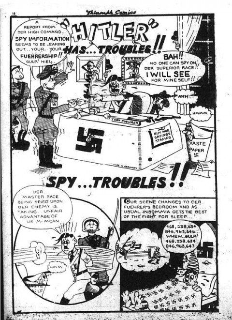 "Unsigned ""Hitler has Troubles"" probably by Virgan from Triumph 17"
