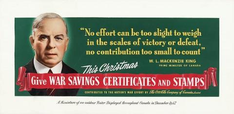 Prime Minister Mackenzie King, 1942