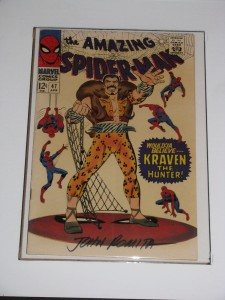 Amazing Spider-Man issue 47 signed by John Romita