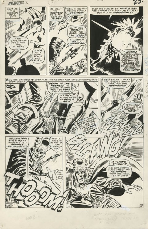 Avengers issue 31 page 17 by Don Heck and Frank Giacoia