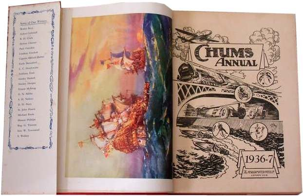 Chums Annual 1936 contents