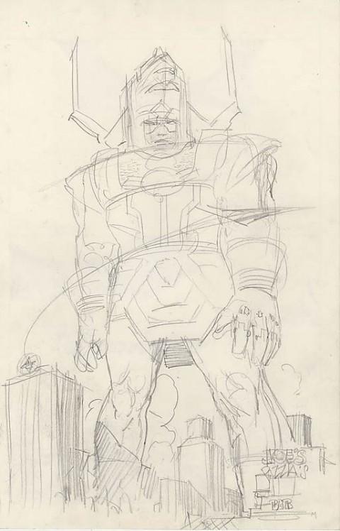 Galactus preliminary by Moebius