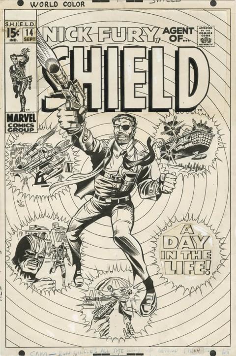 Nick Fury Agent of S.H.I.E.L.D. issue 14 cover by Herb Trimpe and Sam Grainger