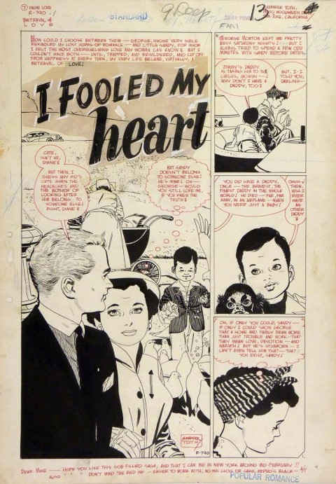 Popular Romance issue 24 I Fooled My Heart splash by Alex Toth