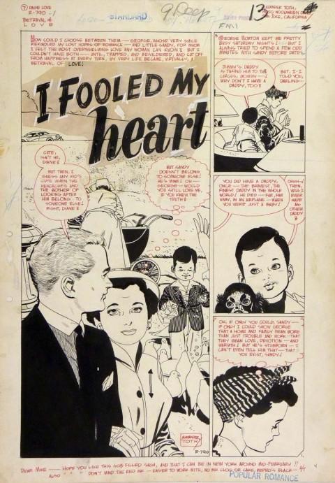 Popular Romance issue 24 I Fooled My Heart splash by Alex Toth