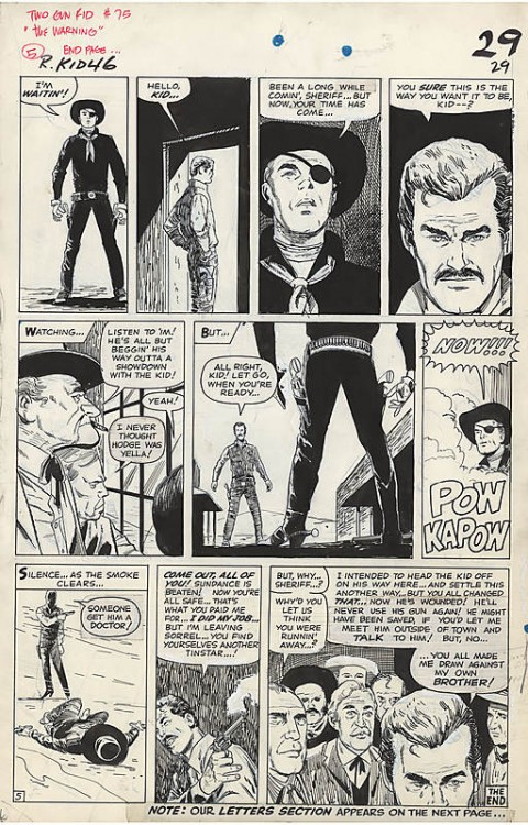 Rawhide Kid issue 46 page 29 by Alex Toth and Vince Colletta