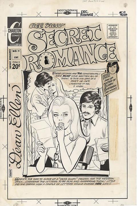 Secret Romance issue 19 cover by Jose Luis Garcia-Lopez