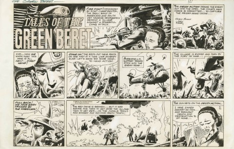 Tales Of The Green Beret Sunday 7-31-1966 by Joe Kubert