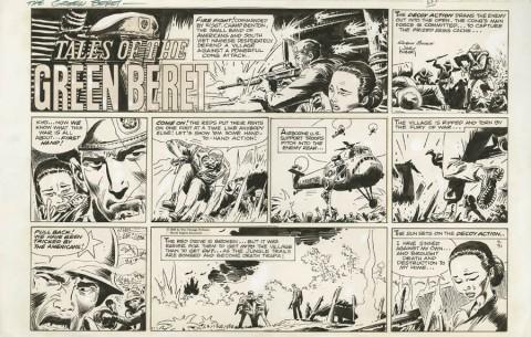 Tales Of The Green Beret Sunday 7-31-1966 by Joe Kubert