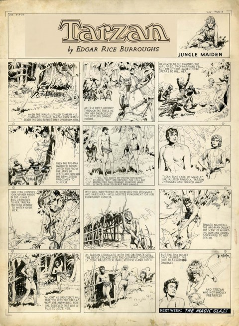 Tarzan Sunday 3-3-1935 by Hal Foster