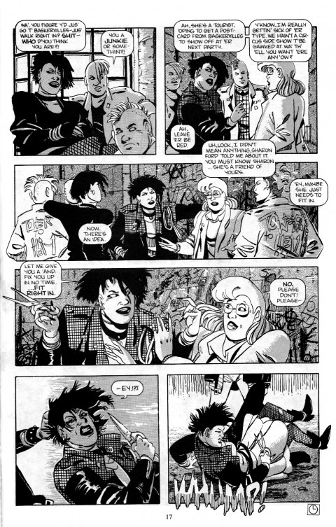 An early Baker Street page, pencilled by Guy Davis and inked by Vince Locke