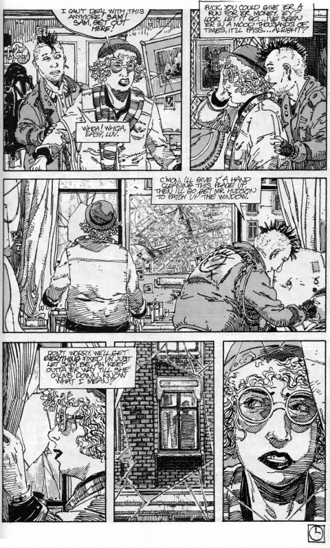A later Baker Street page, pencilled and inked by Guy Davis