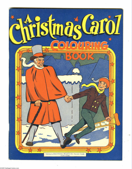 Christmas Carol Colouring Book by Sid Baron from the mid forties