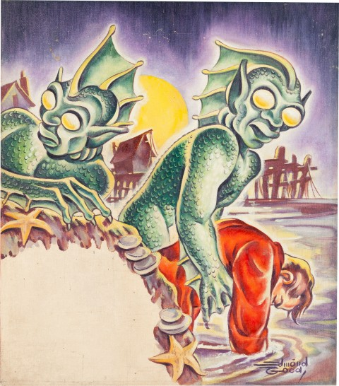 Original painting for the Weird Tales May, 1942 cover