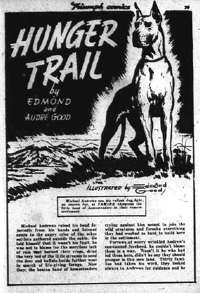 Text story from Triumph Comics 14 written by Good and his wife
