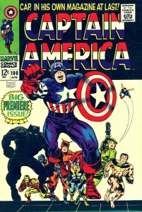 Captain America issue 100 cover