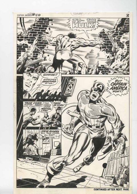 Captain America issue 110 page 3 by Jim Steranko and Joe Sinnott.  Source.