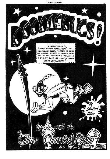 Ed Alton's Doodlebugs splash from Joke 14