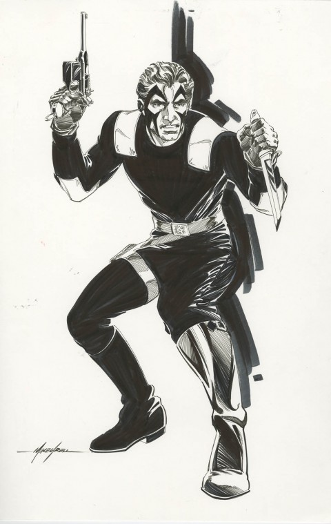 Jon Sable commission by Mike Grell