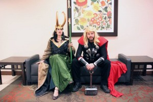 Lady Loki and Thor (photo credit Dr. Stevil)