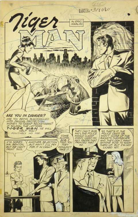 Ranger Comics issue 31 splash by John Celardo