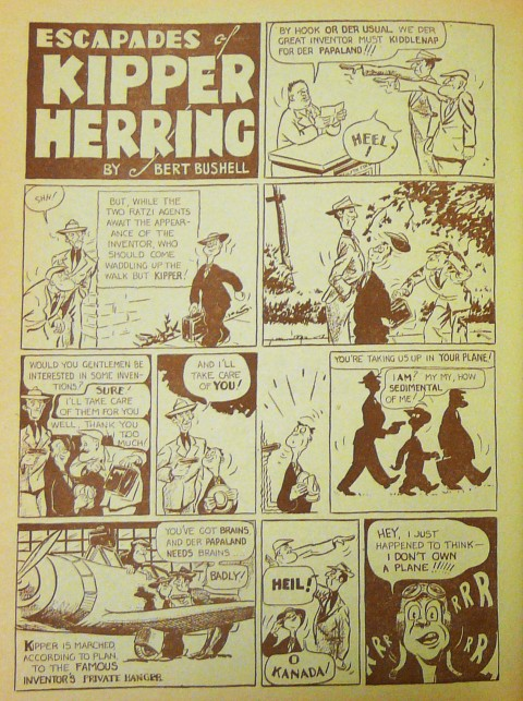 The first Kipper Herring story in Better Comics No. 4