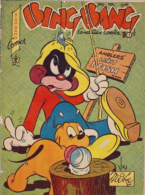 Classic Meikle Li'l Moe cover from Bing Bang Comics Vol. 6 No. 5