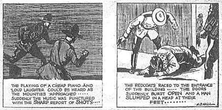 A couple more Harry S. Hall panels from Men of the Mounted