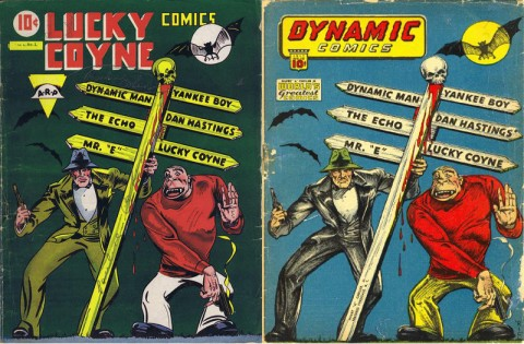 The Super Publications version of Lucky Coyne Comics and Dynamic Comics No.