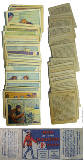 Willard's Chocolates Men of the Mounted trading cards from the thirties