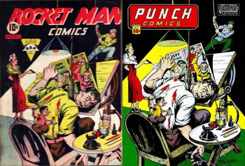 Rocket Man 1 and Punch Comics 9
