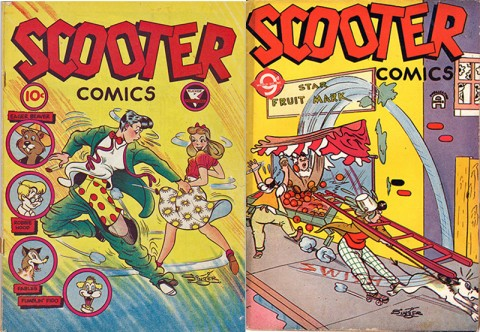 Scooter No. 1 by Rucker and No. 2 by Super Publications