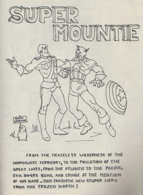 Super Mountie title page by Alicia Austin, 1968