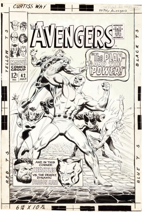 Avengers issue 42 cover by John Buscema and George Roussos