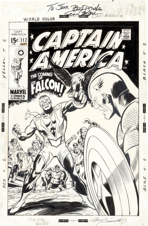 Captain America issue 117 cover by Gene Colan and Joe Sinnott