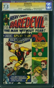 Daredevil issue 1 CGC Signature Series Stan Lee