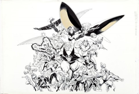 Mutants poster by Arthur Adams