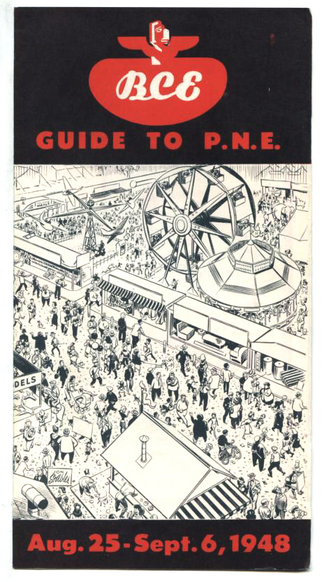 Pacific National Exhibition Programme cover by Stables from 1948