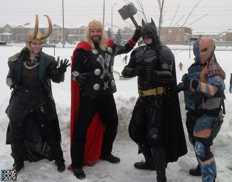 Superheroes attend Vaughan Winterfest
